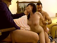 Asian wife filmed when getting laid by two men, father and son