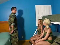 Threesome in the army with wild Aubrey Gold and Subil Arch