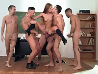 Shocking classroom gangbang for agreeable Alexis Crystal