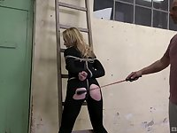 Tied up blonde amateur Rebecca Black enjoys getting tortured