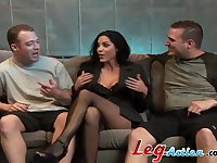 Double penetration threesome for big natural tits Veronica Rayne