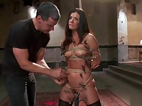 Chained MILF trainee hard fucked