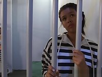 Lesbian teen latina in prison gets fingered