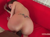 Amateur bends over to suit her tiny cunt with the tasty BBC