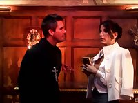 Wife Lezley Zen decides to sin and rides a stiff dick of the priest