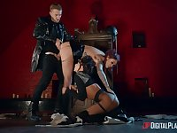 Leather outfits and insane threesome porn, the right recepy