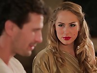 Hot MILF Carter Cruise enters a bar and seduces a man into having sex with her