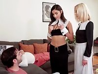 Horny parishioners get caught commiting a huge sin fucking stepbrother