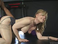 Fit fat bottomed GILF Nina Hartley cannot say no to a big black cock