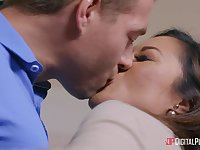 Fucking in the bed with anal loving Asian pornstar Kaylani Lei