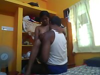 Amateur Indian wife with big booty rides her hubby on top greedily