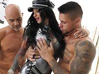 Threesome in insane hardcore scenes for Adel Asanty