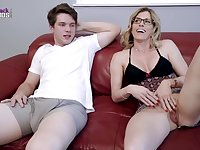 Horny blonde mommy, Cory Chase is about to have steamy sex with her step- son