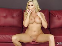 Sexy solo video of mature pornstar Christie Stevens having fun