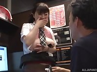 Lucky guy nails Hoshino Hibiki for all she's worth and cums on her ass