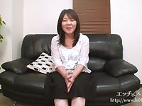 Asian granny with dark hair, Sayuri Nozawa got fucked hard, in front of the camera