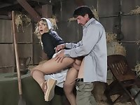 Blair is a sweet, blonde girl who likes to fuck her married neighbor in the stable