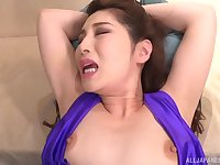 Kinky mature Sasaki Aki teases her man and gets her puss fingered
