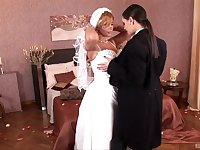 Soon to be bride Dorothy Black gets licked by horny Eve Angel