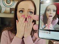 Shocking POV oral with dirty ginger darling Aliya Brynn