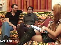 La France A Poil - Interracial Threesome With On Fat Di