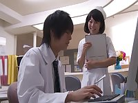 Natural body nurse Misaki Honda drops her panties for hot sex