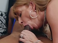 Sara Jay gets pounded by a black cock in the clothing store